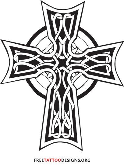 368bc1ca24a7f 407x540 Black And White Jesus On The Cross Tattoos Design ~ Tattooic