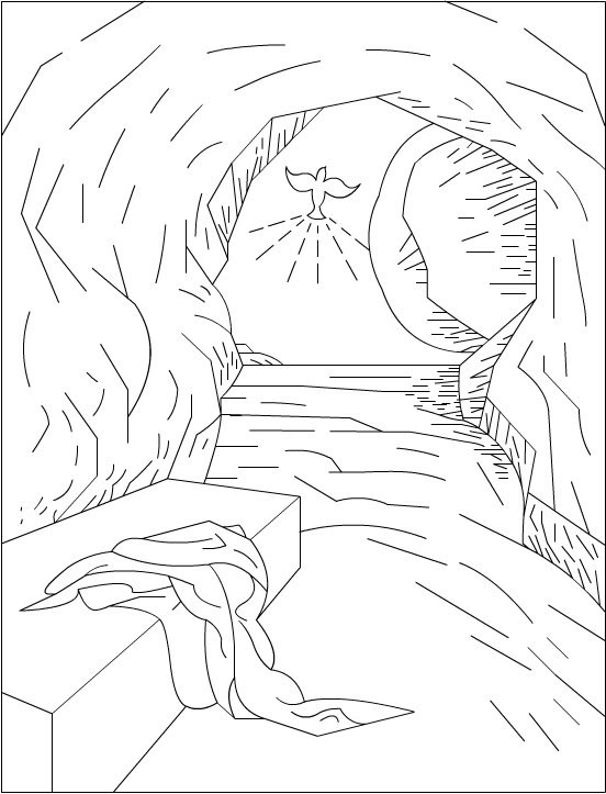 552x723 Jesus Closed Tomb Easter Coloring Pages Jesus Tomb Cartoon