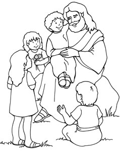 Jesus With Children Drawing