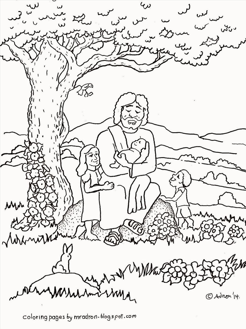 Jesus With Children Drawing At GetDrawings