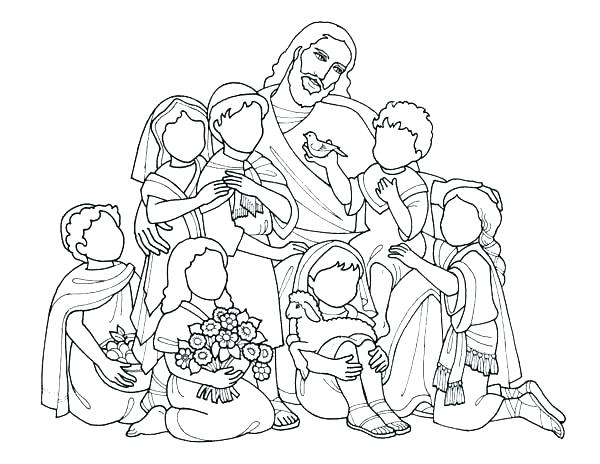 600x464 Ideal Jesus And Children Coloring Page Best Of Loves The Charming