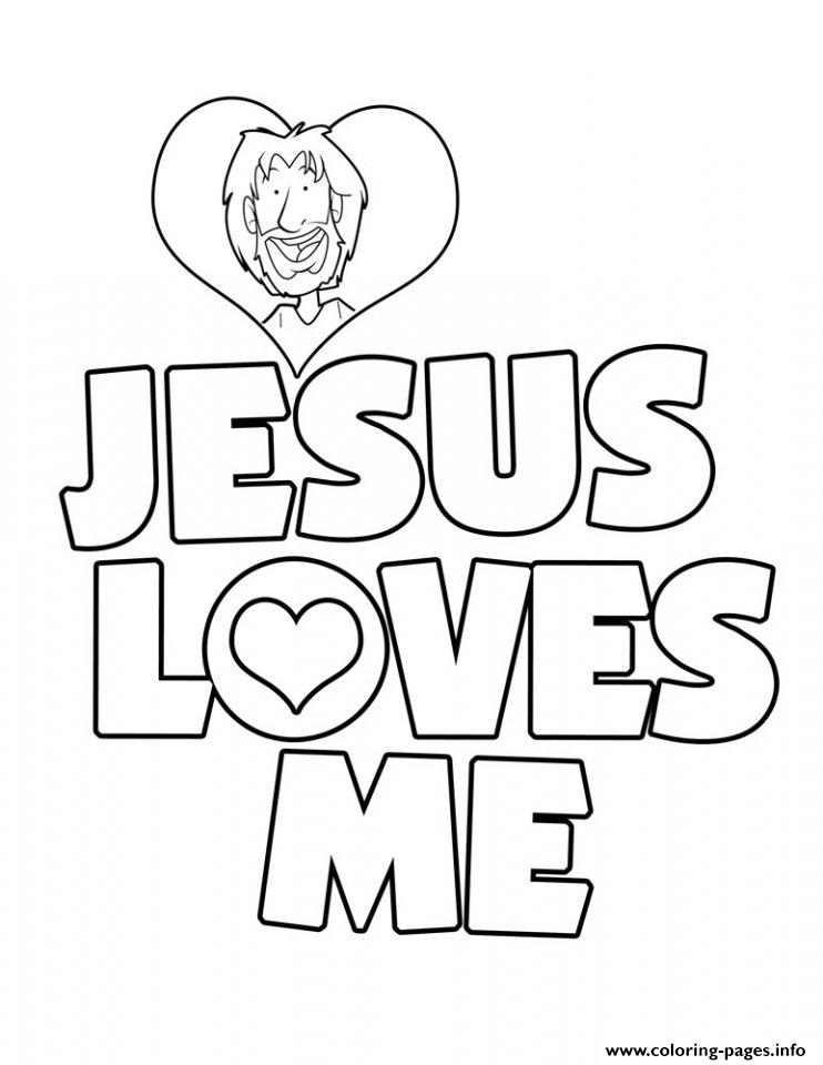 742x960 Jesus Loves Me Coloring Page Preschool For Good Draw Kids