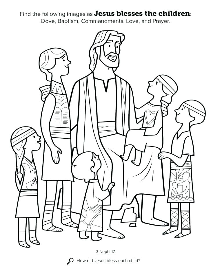 728x943 Jesus With Children Coloring Page Loves Me Printable