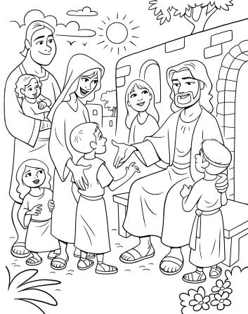 353x447 Christ Meeting The Children