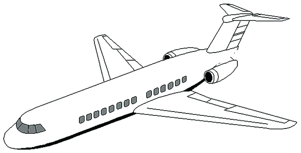 Jet Airplane Drawing