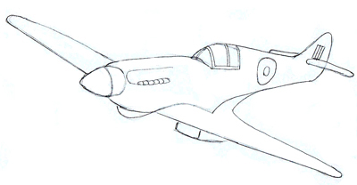 400x208 How To Draw A Fighter Plane