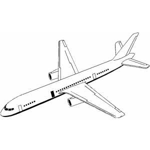 300x300 Jet Plane Coloring Page