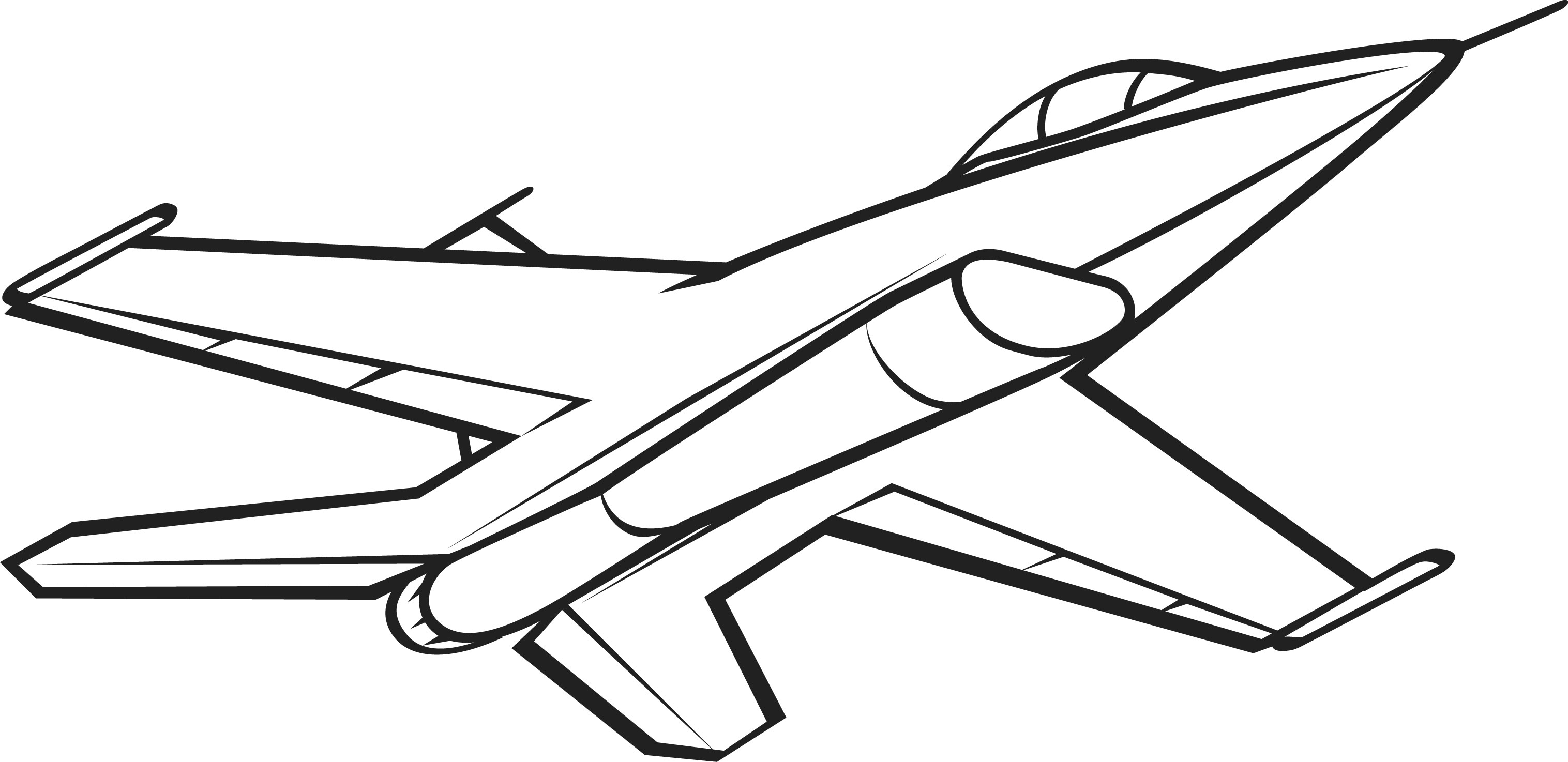 3032x1474 Black And White Jet Picture For Coloring Airplane Coloring Pages