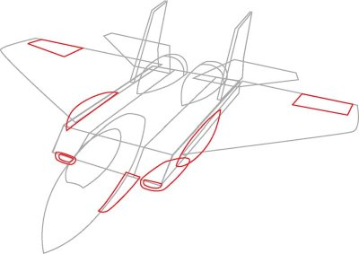 400x283 4. Draw The Air Intakes