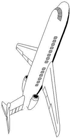 236x461 Jet Airplane Coloring Page Airplanes, Jets And Craft