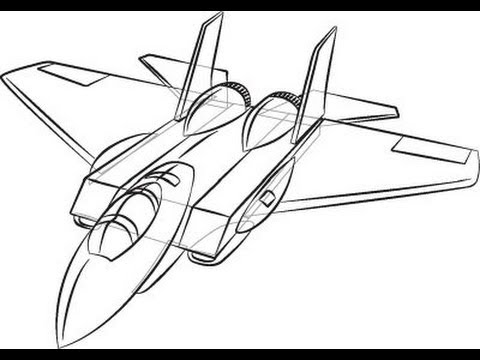 480x360 Tutorial] How To Draw A Plane! Super Easy
