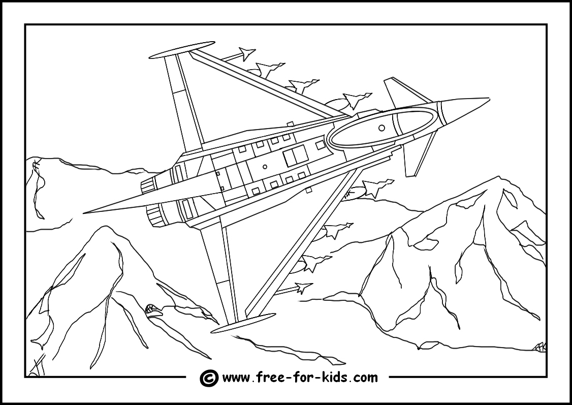 1126x797 Aeroplane Colouring Pages