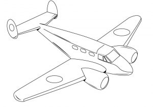 300x210 Jet Airplane Coloring For Kids