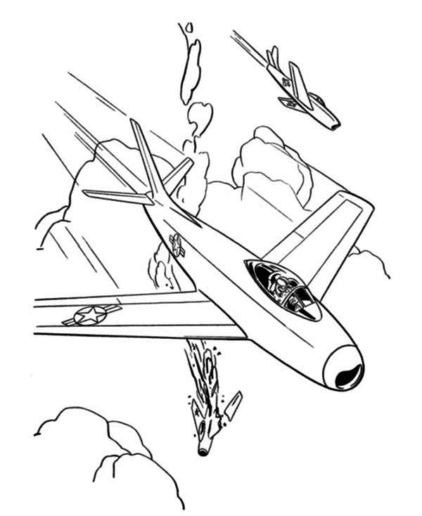 600x734 Jet Fighter Airplane Coloring Page