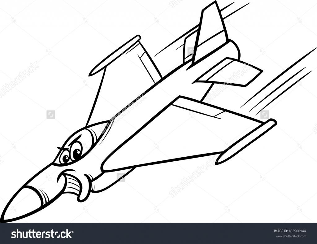 1024x788 Cartoon Jet Drawing Plane Drawings Clipart