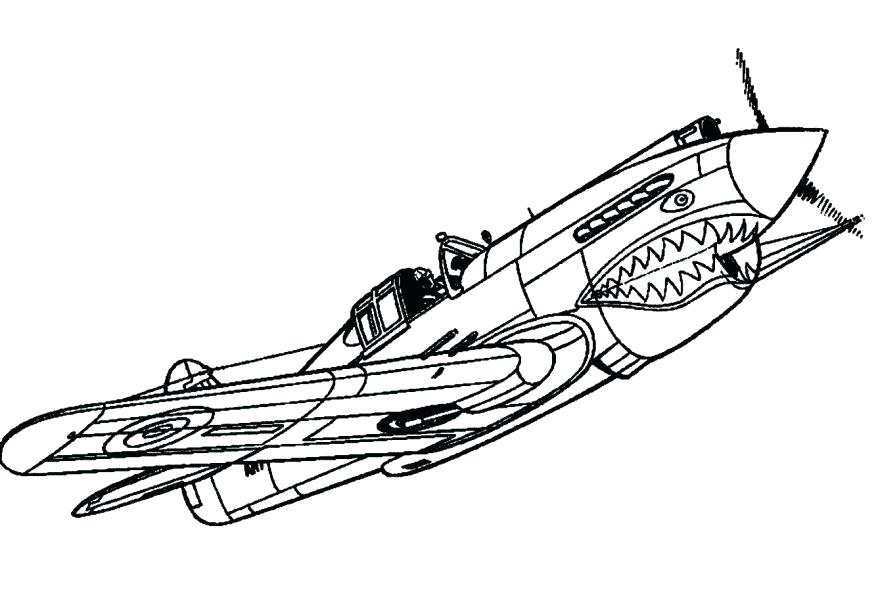 878x591 Fighter Jet Coloring Page Fighter Airplane Shark Color Pictures