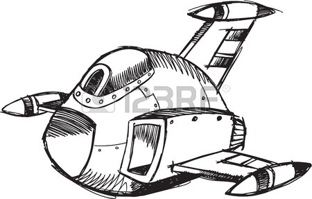 450x287 Sketchy Fighter Jet Illustration Royalty Free Cliparts, Vectors