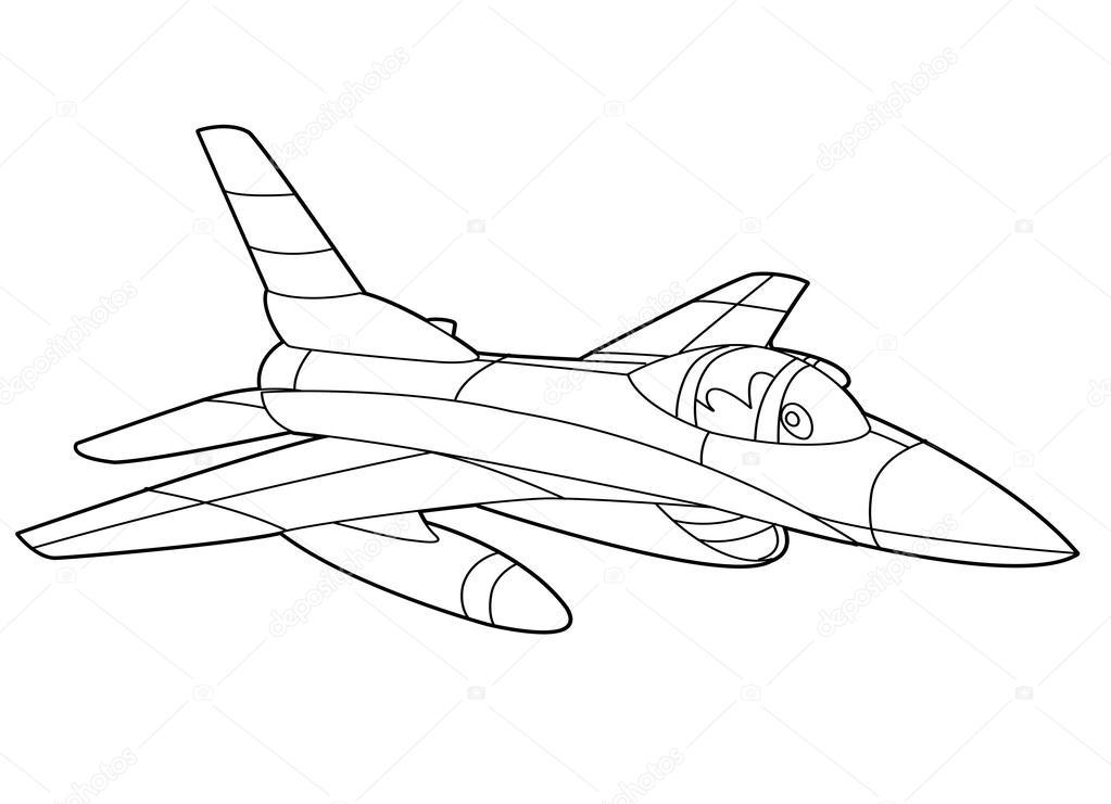 1023x741 Cartoon Jet Fighter Stock Photo Illustrator Hft