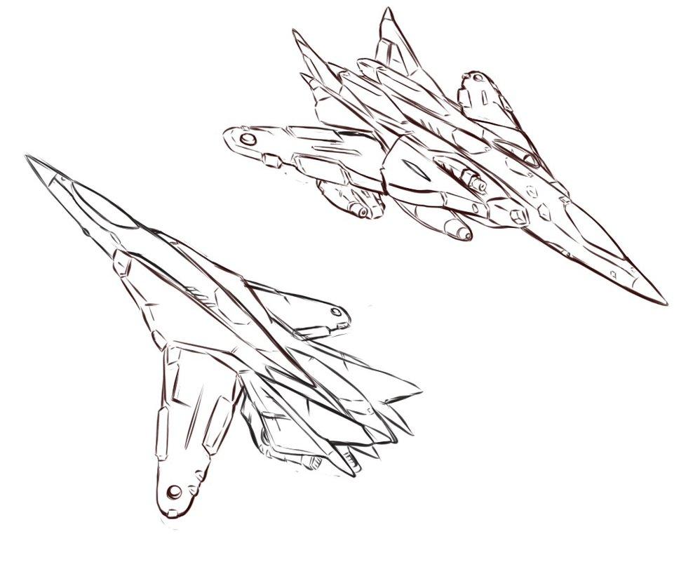 998x801 Fighter Jet Line Art By Lichen93