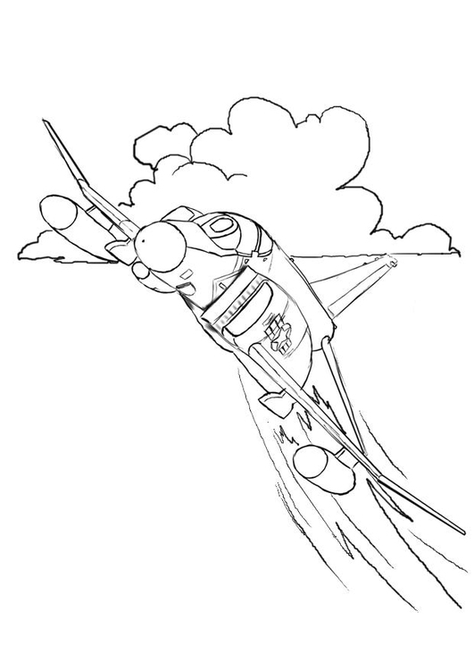 531x750 Coloring Page Fighter Jet