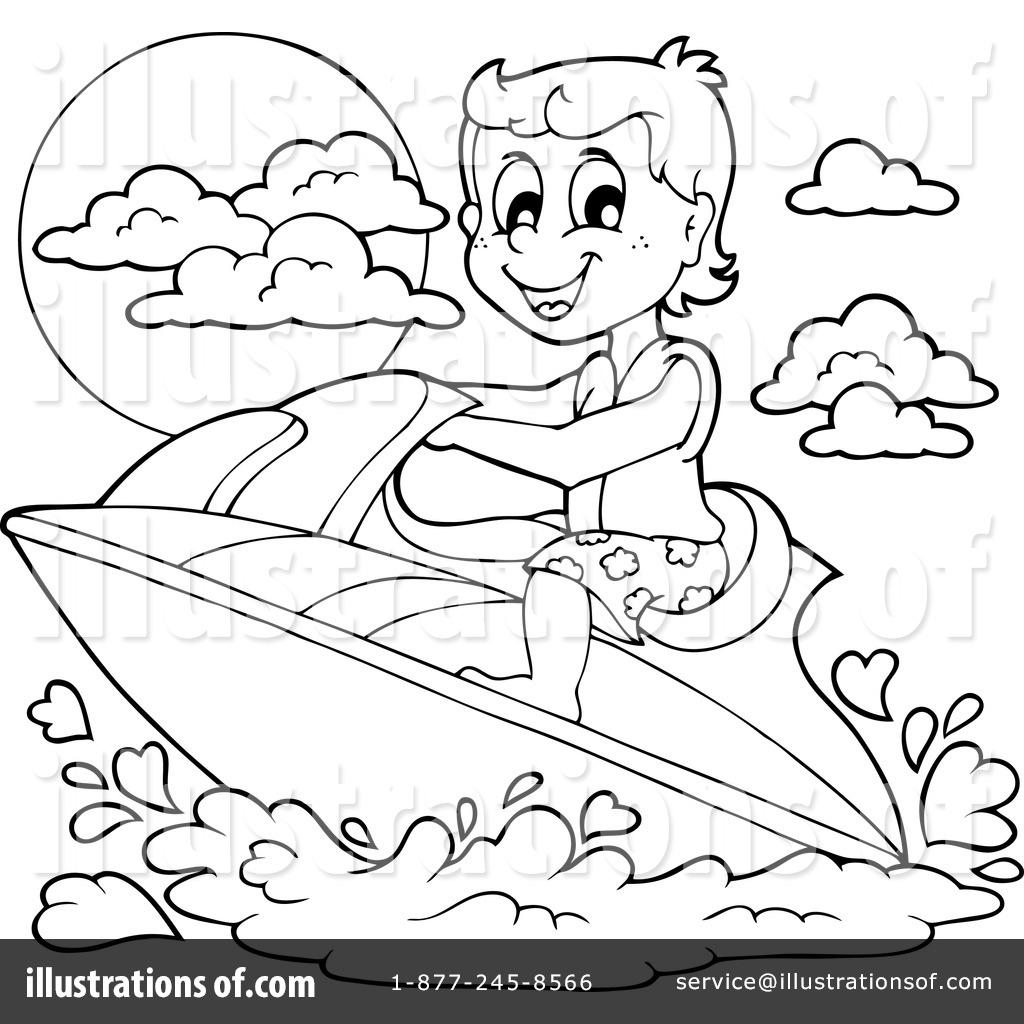 1024x1024 Jet Ski Clipart