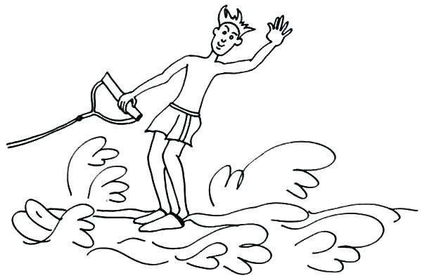 600x396 Skiing Coloring Pages Playing In The Winter Day Page Jet