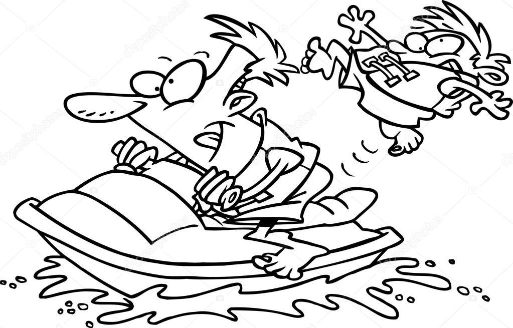 1023x655 Cartoon Wave Runner Jet Ski Stock Vector Ronleishman