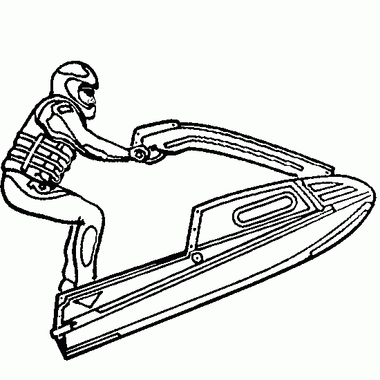 550x550 Jet Ski Seadoo (Transportation) Printable Coloring Pages