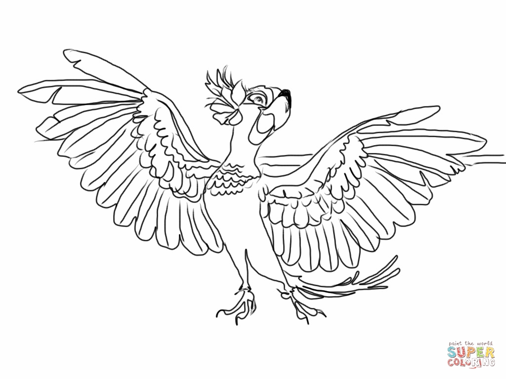 1024x768 Jewel With Wings Spread Wide Coloring Page