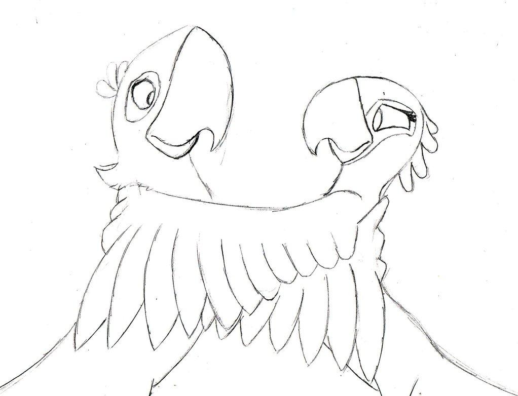 1022x782 Rio Blu And Jewel Drawing By Sa Sketchcat
