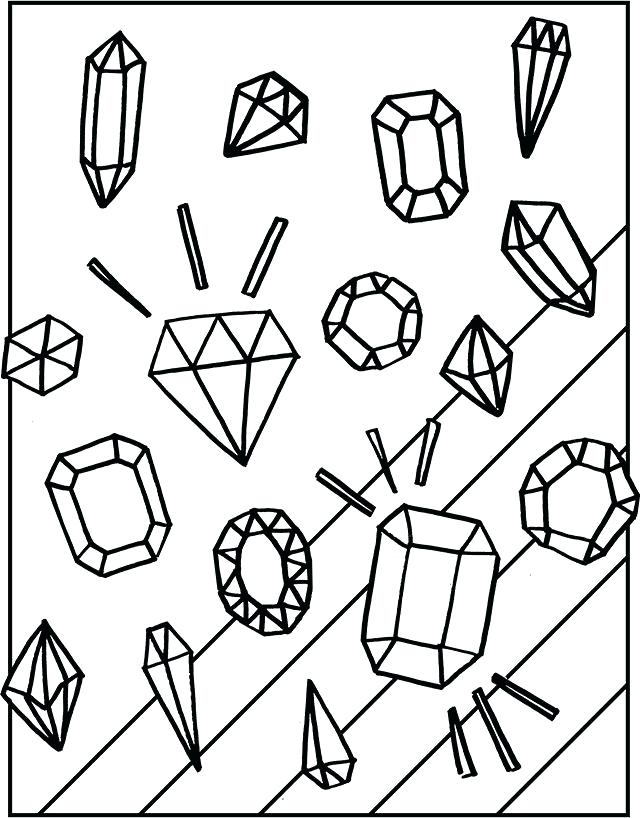 640x818 Trend Jewel Coloring Pages Online Gem Sheets Gemstones Page