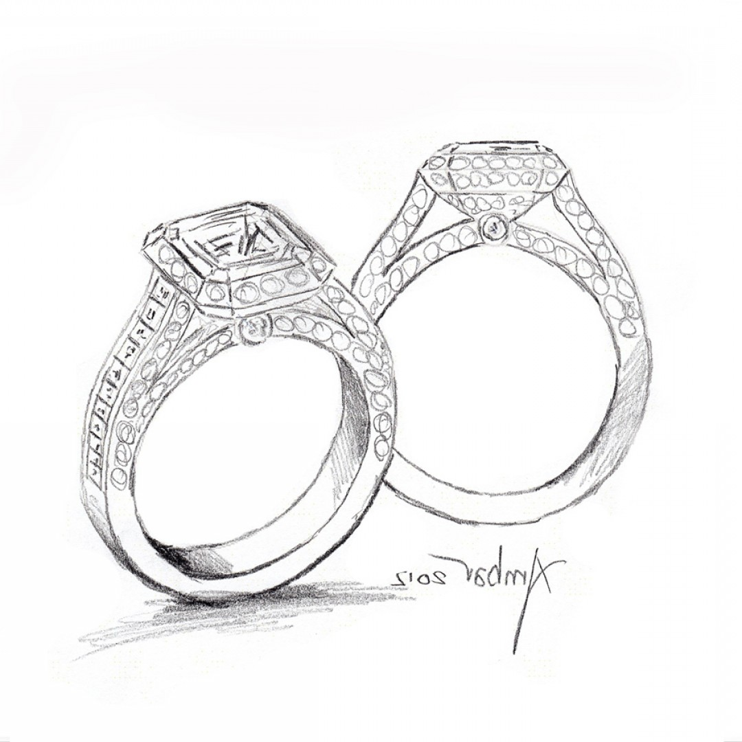 1080x1080 Marriage Ring Drawings Jerezwine Jewelry