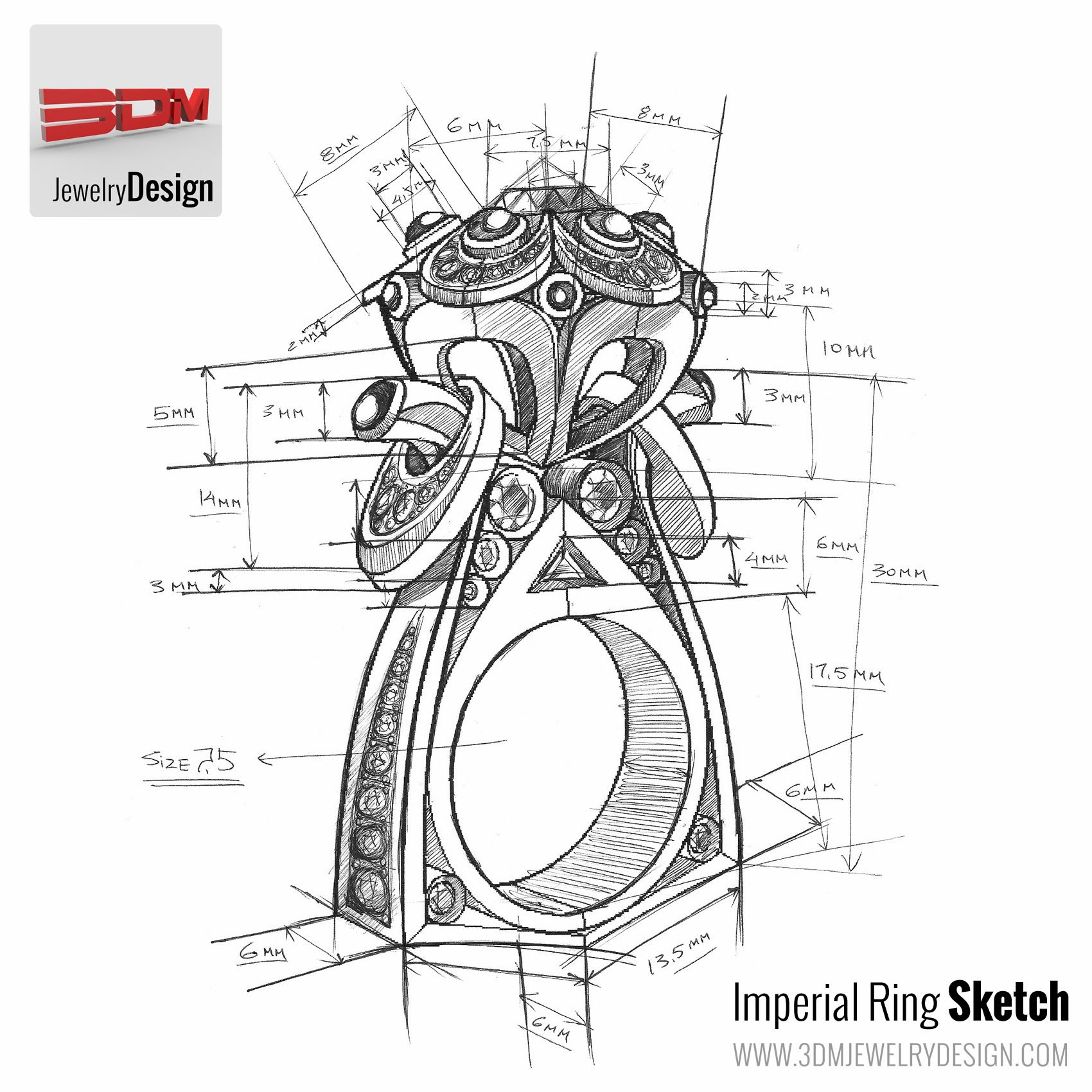 Jewelry Design Drawing