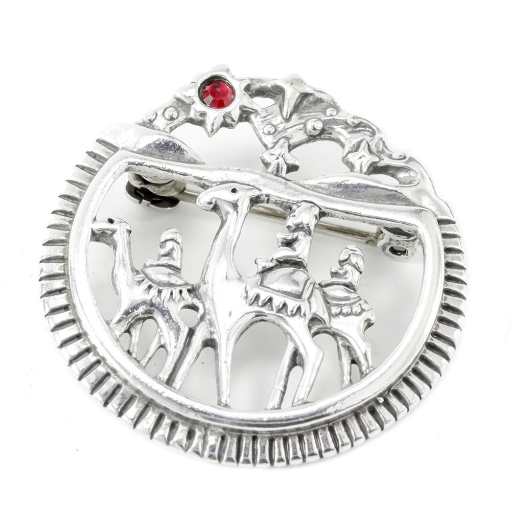 1000x1000 Sterling Silver 3 Kings Brooch Mira Jewelry Design