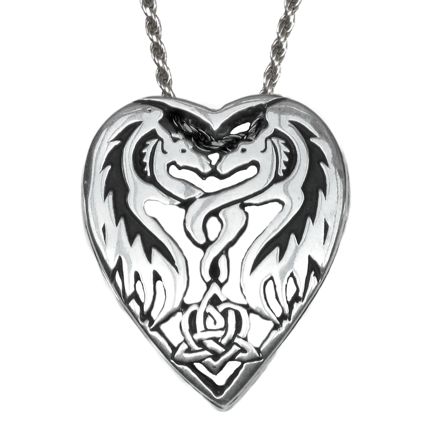 1752x1752 Heart Dragon Pendant Deva Designs