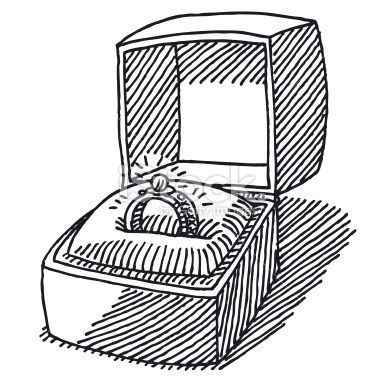 380x379 Stock Illustration 30751964 Engagement Ring Jewelry Box Drawing