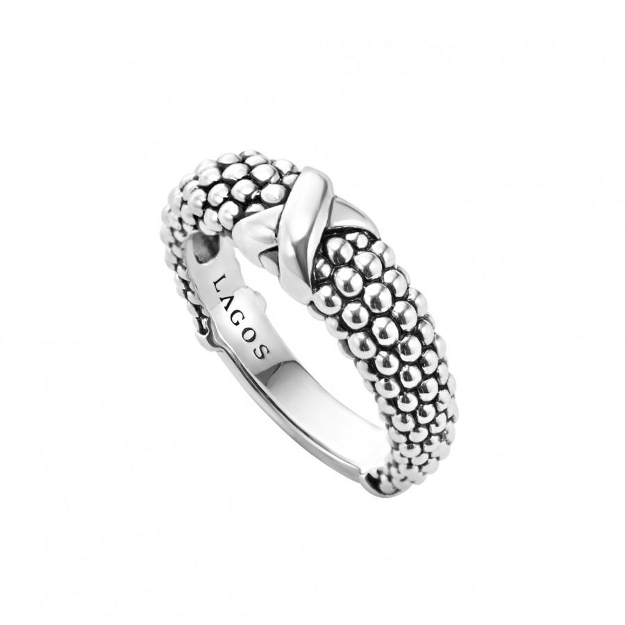 900x900 Beaded X Ring Signature Caviar Lagos Jewelry