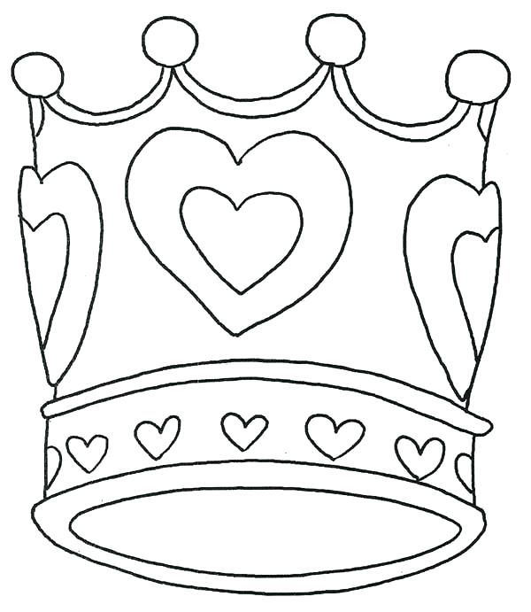 600x691 Great Coloring Pages Of Crowns Image Crown Page Jewels Free