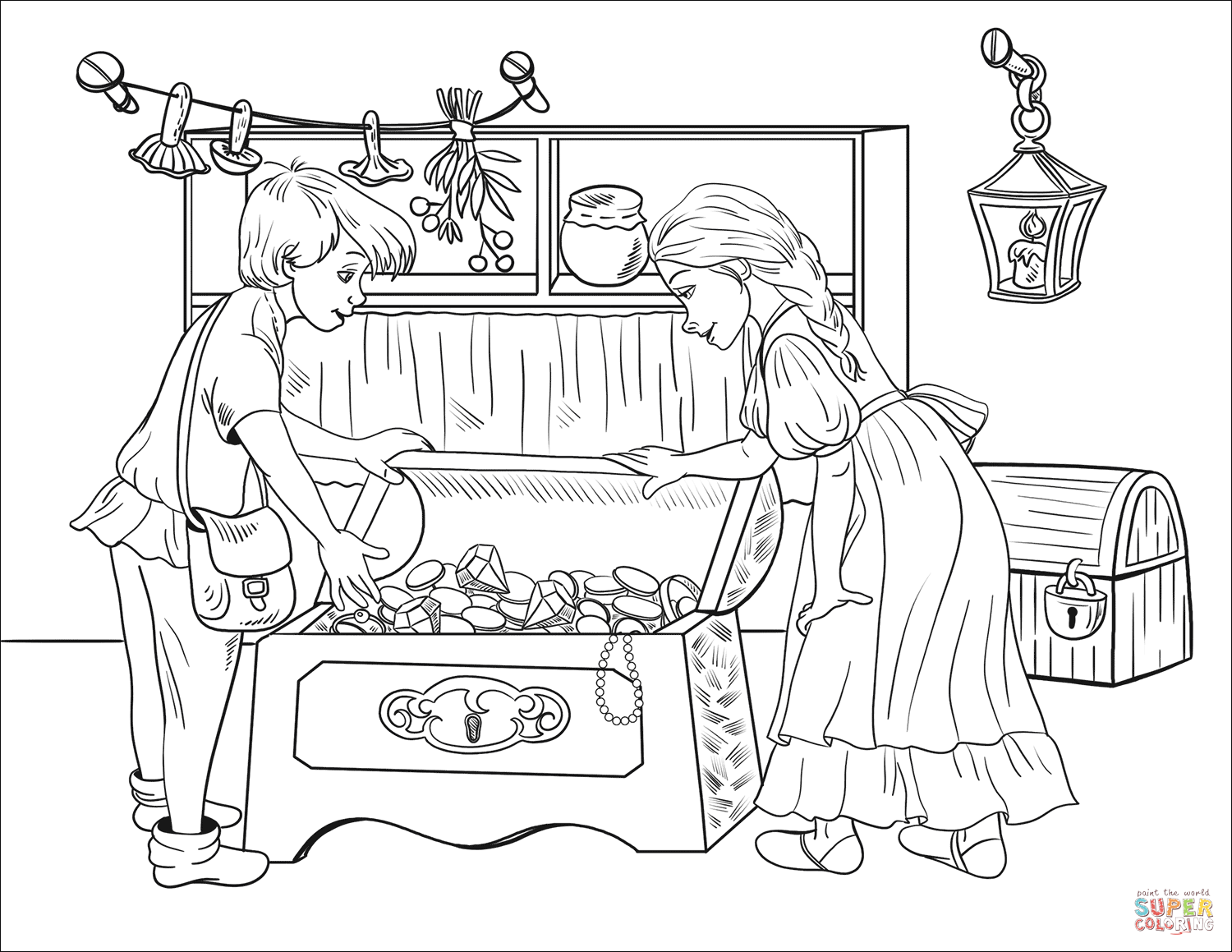 1500x1159 Hansel And Gretel Discover Chests Full Of Pearls And Jewels In