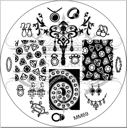 529x532 Nail Art Stamping Image Plate Mm69