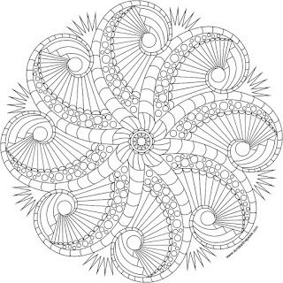 320x320 Rosemary's Jewels 2 Octopus Mandala To Color Available In Jpg