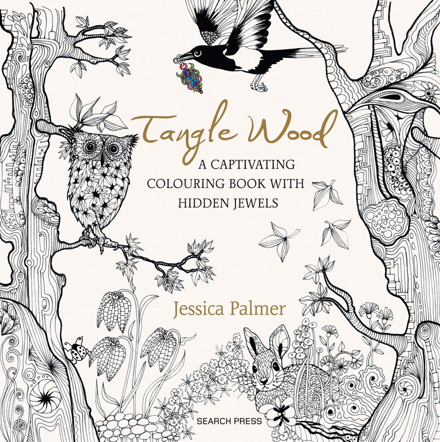 1400x1406 Tangle Wood A Captivating Colouring Book With Hidden Jewels