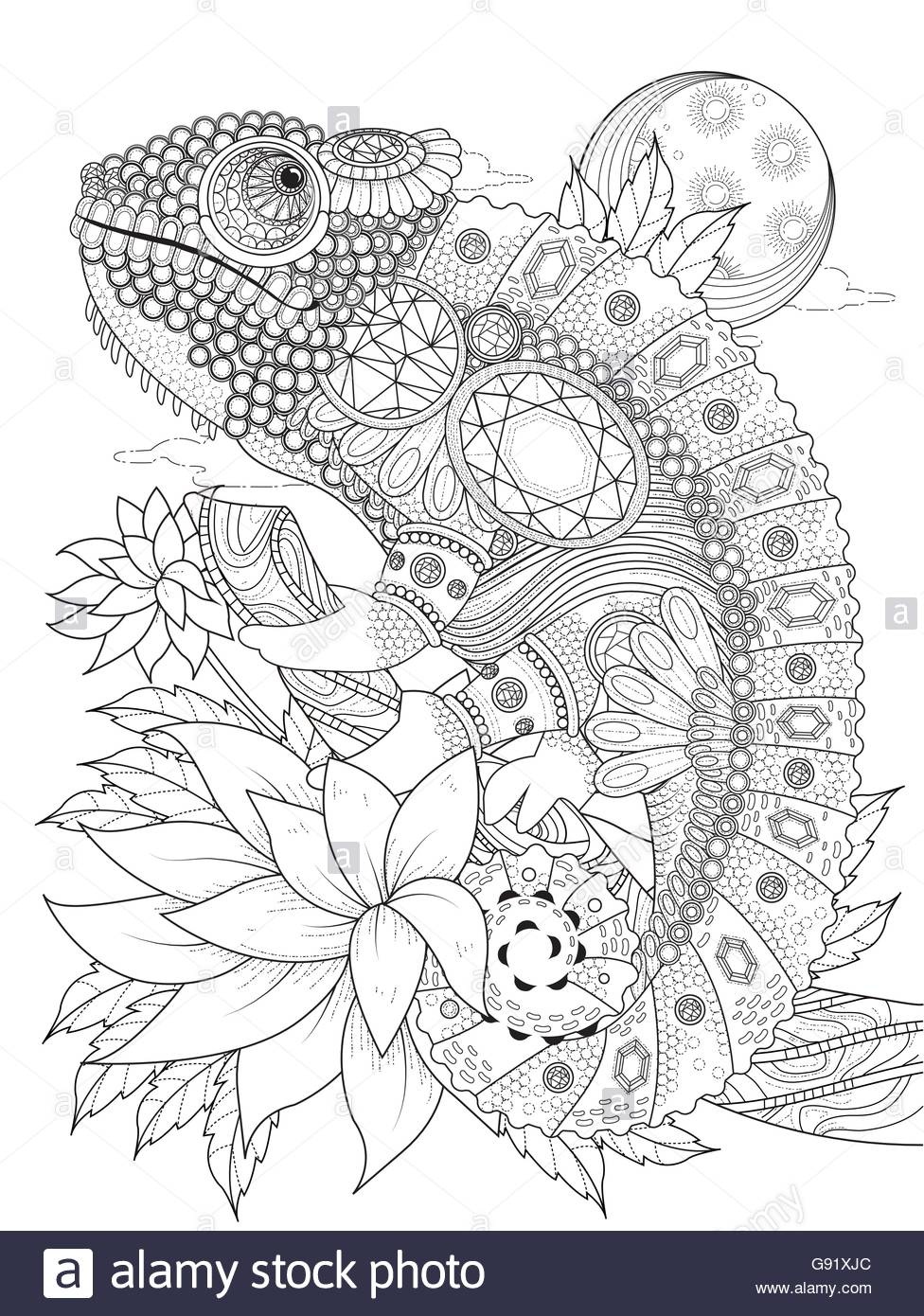 976x1390 Adult Coloring Page