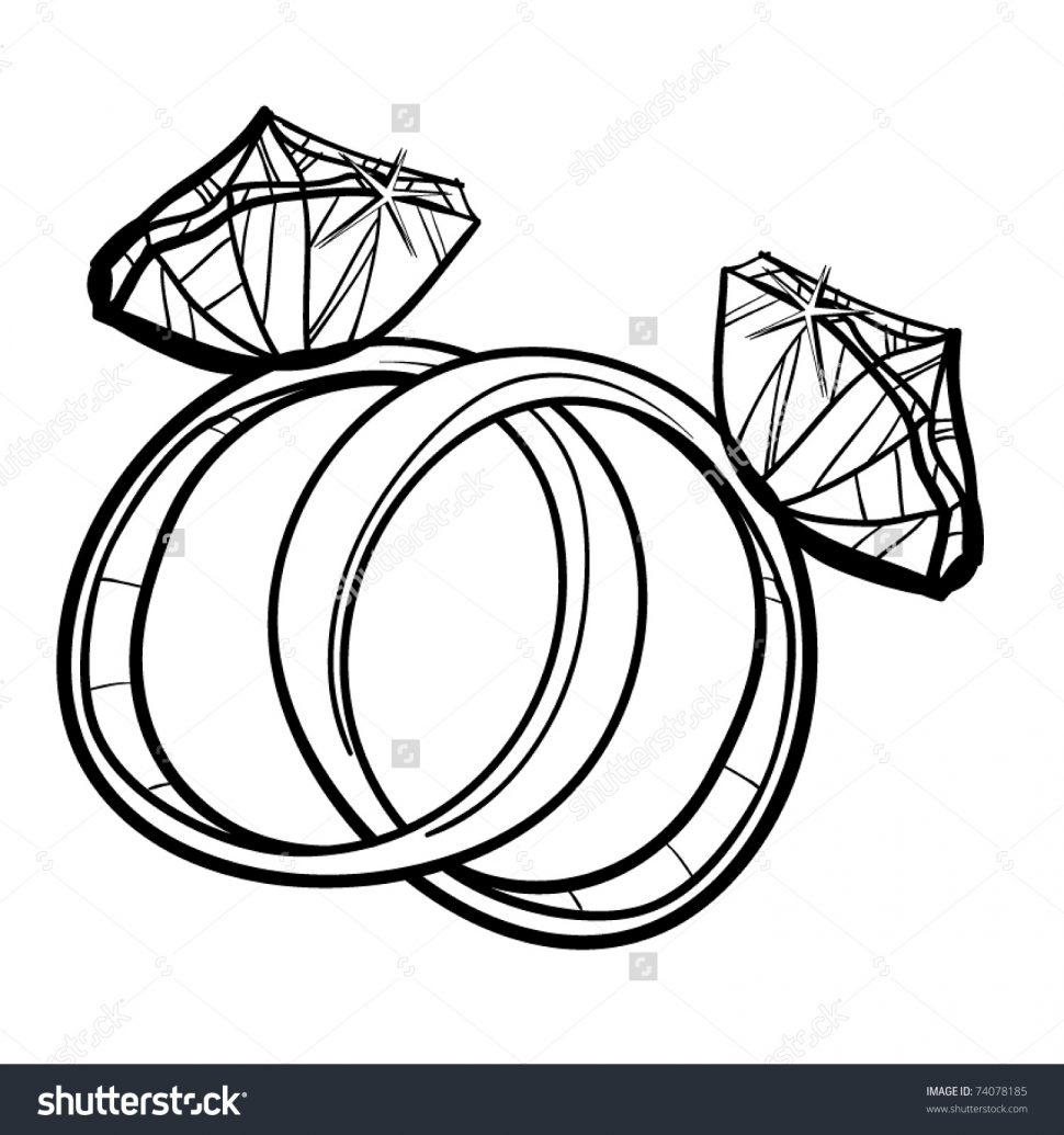 970x1035 Wedding Rings Stock Vector Wedding Rings A Children S Sketch