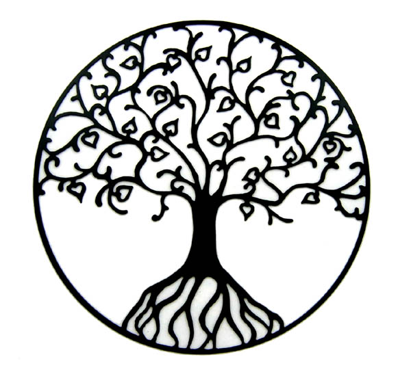 600x544 Tree Of Life Clipart Black And White