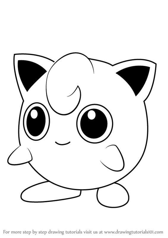 566x800 Learn How To Draw Jigglypuff From Pokemon Go (Pokemon Go) Step By