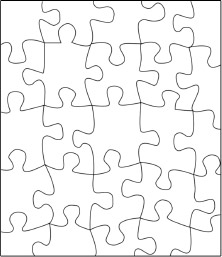 222x257 Jigsaw Puzzle Template