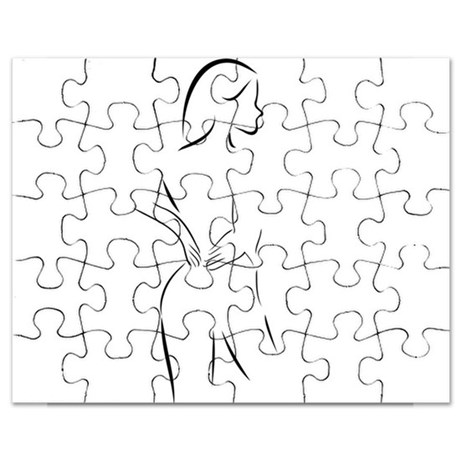 460x460 Naked Girl Drawing Puzzles, Naked Girl Drawing Jigsaw Puzzle
