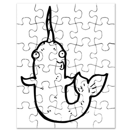 460x460 Narwhal Drawing Puzzles, Narwhal Drawing Jigsaw Puzzle Templates