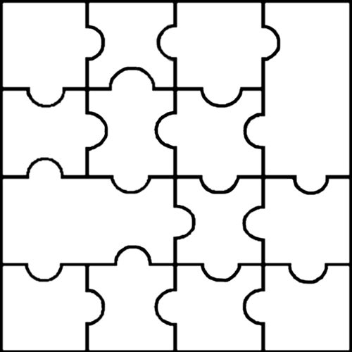 500x500 Blank Puzzle Template